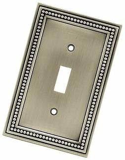 Brainerd 64905 Beaded Single Toggle Switch Wall Plate / Swit