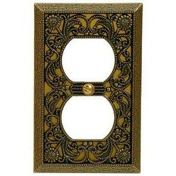 Amerelle 65DAB Filigree Cast Metal 1 Duplex Outlet Wall Plat