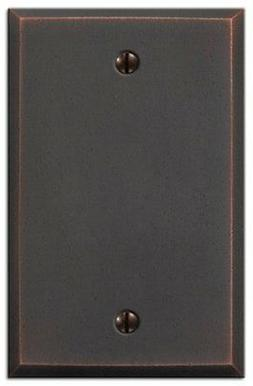 Amerelle 68BDB Manhattan Blank Wall Plate, Aged Bronze