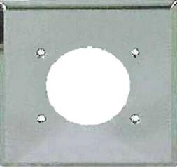 69 Chrome Standard 2-Gang Power Outlet Receptacle Wall Plate