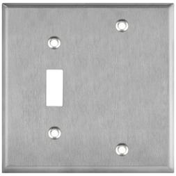 ENERLITES 2-Gang Blank Device Toggle Switch Combo Wall Plate