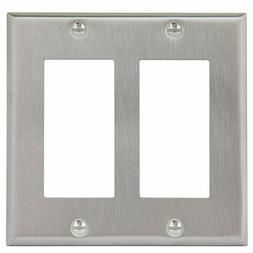Enerlites 7732 Decorator Switch Wall Plate Standard Size 2-G