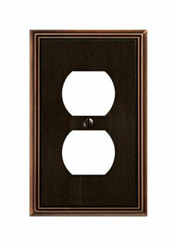 Amerelle 77DDB Metro Line 1 Duplex Wall Plate, Aged Bronze