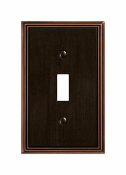 Amerelle 77TDB Metro Line 1 Toggle Wall Plate, Aged Bronze