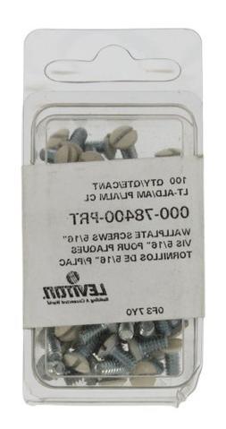 Leviton 78400-PRT Light Almond Replacement Wallplate Screw,