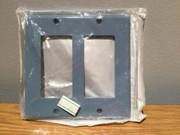 Leviton 80409-BU Decora Wall Plate, 2 Gang, Blue