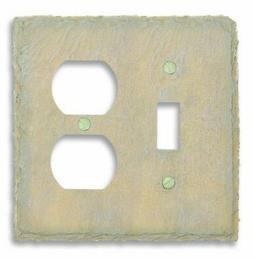 Amertac 8345TDA 1 Toggle/1 Duplex Faux Slate Wallplate, Almo