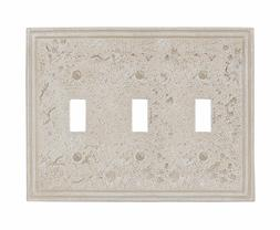 Amertac 8349TTTA 3 Toggle Faux Stone Almond Wallplate Crme C