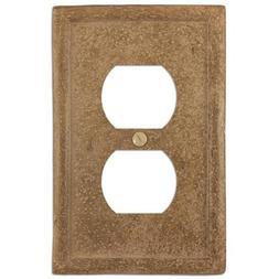 Amertac 8351DNC 1 Duplex Texture Stone Noce Wall plate