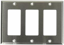 Leviton 84411-40 3-Gang Decora/GFCI Device Decora Wallplate,