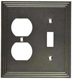 Amertac 84TDN 1 Toggle/1 Duplex Steps Wallplate, Nickel
