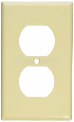 LEVITON, 86003, DUPLEX RECEPTACLE WALL PLATE ,IVORY COLOR