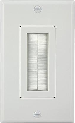 GE 87697 Single Brush Wall Plate