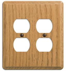 AMERELLE 901DDL CONTEMPORARY 2 DUPLEX OUTLET WALL PLATE