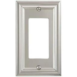 Amerelle 94RN Continental Cast Metal Wall plate with 1 Rocke