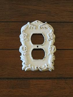 Antique White Decorative Electrical Outlet Plate/Plug-in Cov
