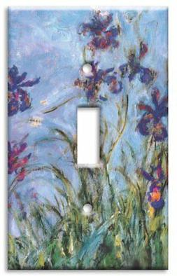 Art Plates - Monet: Irises Switch Plate - Single Toggle