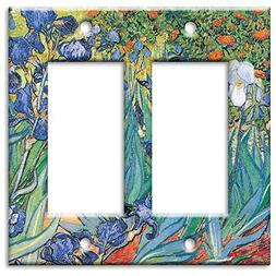 Art Plates - Van Gogh: Irises Switch Plate - Double Rocker