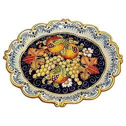 CERAMICHE D'ARTE PARRINI - Italian Ceramic Serving Tray Plat