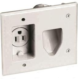 EATON 35MRW-SP-L Recessed Multimedia Cable Wall Plate with S