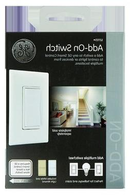 Ge - Smart Lighting Control In-wall Add-on Switch - White