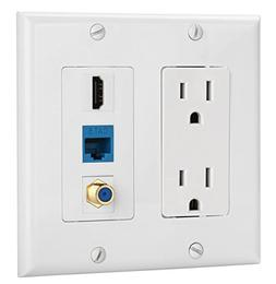 IBL-15A Power Outlet, 1 port HDMI, 1 Cat6 Ethernet, 1 Coax C