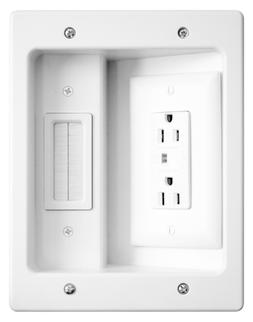 Legrand - ONQ / HT2102WHV1 Flat-Panel In-Wall Cable Manageme