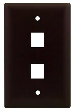 Legrand - On-Q WP3402BR 1Gang, 2Port Wall Plate, Brown