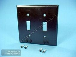 Leviton 85009 2-Gang Toggle Device Switch Wallplate, Standar
