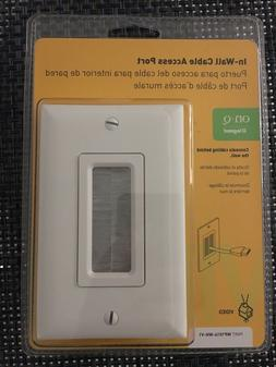 On-Q/Legrand WP1014WHV1 WP1014WH Cable Access Strap with Wal