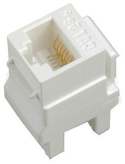 On-Q WP3450WH Category 5e RJ45 Keystone Connector, White