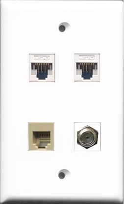 RiteAV - 1 Port Coax Cable TV- F-Type and 1 Port Phone RJ11