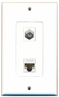RiteAV - 1 Port Coax Port Cable TV F Type - 1 Port Cat5e Eth