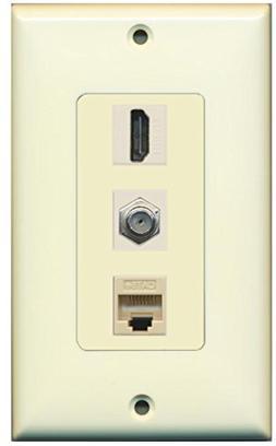 RiteAV - 1 Port HDMI and 1 Port Coax Cable TV- F-Type Cat5e