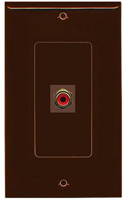 RiteAV - 1 RCA Red for Subwoofer Audio Port Wall Plate Decor
