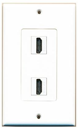 RiteAV - 2 Port HDMI 2.0 Decorative Wall Plate