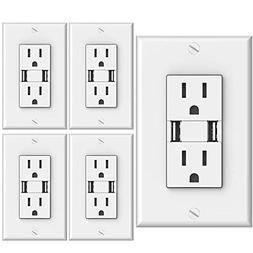 Sunco Lighting 4 PACK - UL Listed- High Speed USB Port Charg