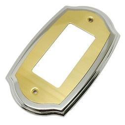 AMEROCK Accents Solid Brass GFI Rocker Outlet Switch Plate C
