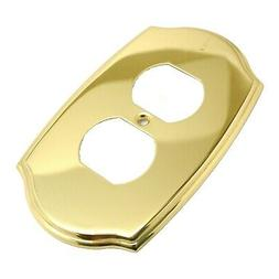 AMEROCK Accents Solid Polished Brass Double Duplex Outlet Sw