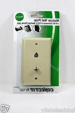 BELL PHONE ACCESSORIES ALMOND MODULAR TELEPHONE AND VIDEO JA