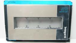adorne 4-Gang Satin Nickel Wall Plate