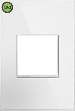 Legrand  adorne Mirror White on White, 1-Gang Wall Plate