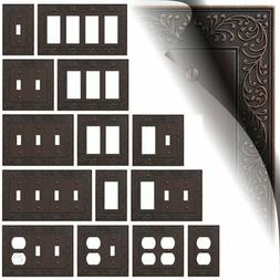 Aged Bronze Oil Rubbed Switch Plates English Garden Duplex W
