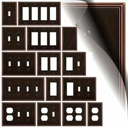 Aged Bronze Switch Plate Metro Line Wallplate Outlet Cover T