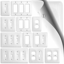 Allena White Switch Plate Ceramic Wallplate Cover Kitchen Ba