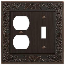 Amerelle English Garden 1 Toggle and 1 Duplex Wall Plate - A