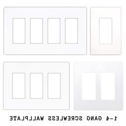 AMZ |  Gang Screwless Wall Plate Outlet Covers for Switches