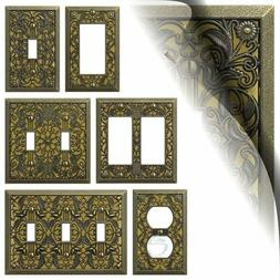antique brass filigree switch plate arabesque wallplate