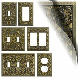 Antique Brass Filigree Switch Plate Arabesque Wallplate Togg