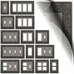 Antique Nickel English Garden Switch Plates Duplex Outlet Wa